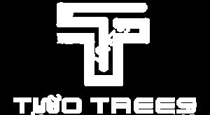 two trees white logo